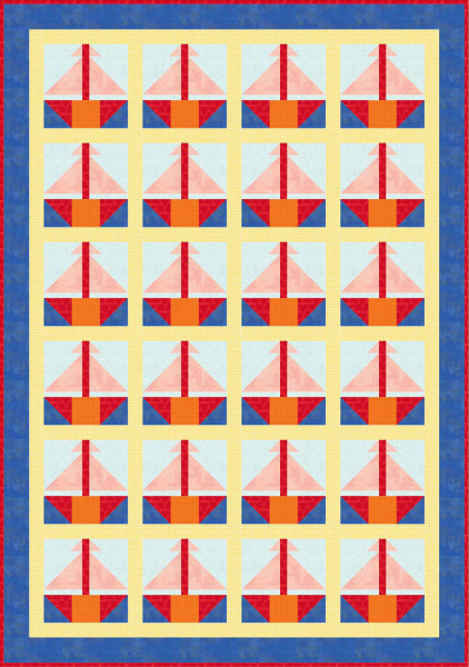 """Sailing Away Quilt Pattern"" free to Quilt Dash members who complete the July 2019 Quilt Dash."