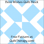 """Best Wishes Quilt Block Free Pattern for a 12"""" quilt block at QuiltTherapy.com!"""