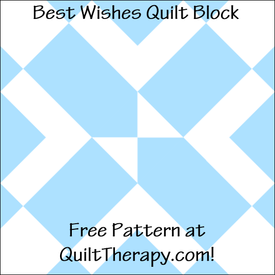 "Best Wishes Quilt Block Free Pattern for a 12"" quilt block at QuiltTherapy.com!"