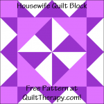 """Housewife Quilt Block Free Pattern for a 12"""" quilt block at QuiltTherapy.com!"""