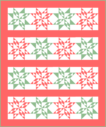 """Twinkling Stars Quilt Pattern"" free to Quilt Dash members who complete the August 2019 Quilt Dash."