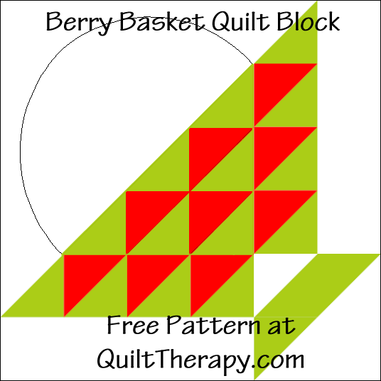 "Berry Basket Quilt Block Free Pattern for a 12"" quilt block at QuiltTherapy.com!"
