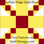 "Buffalo Ridge Quilt Block Free Pattern for a 12"" quilt block at QuiltTherapy.com!"