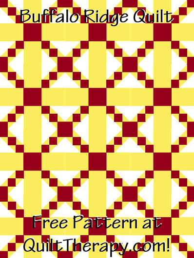 """Buffalo Ridge Quilt Free Pattern for a 36"""" x 48"""" quilt at QuiltTherapy.com!"""