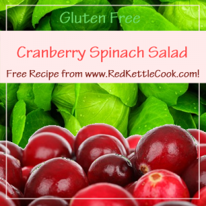 Cranberry Spinach Salad Free Recipe from RedKettleCook.com!