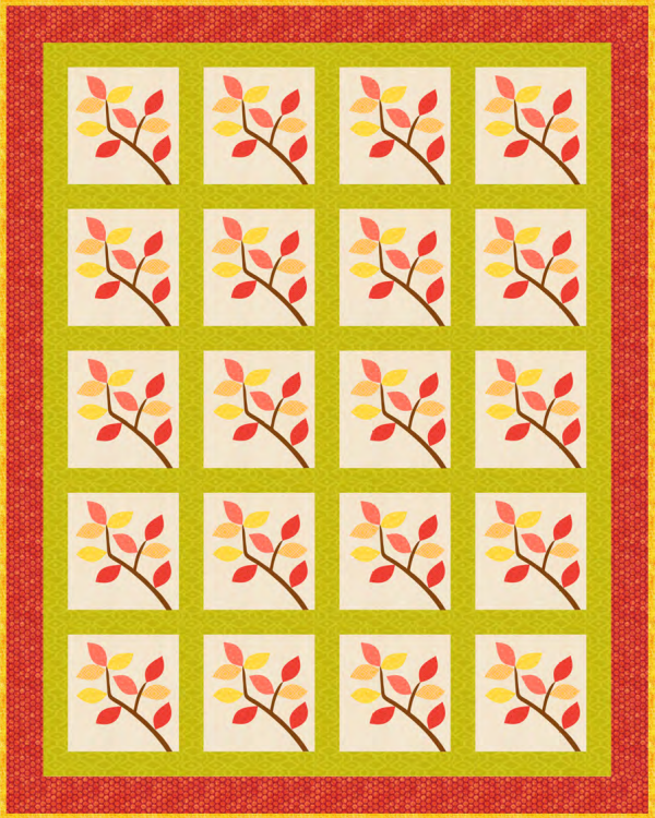 """Fall Splendor Quilt Pattern"" free to Quilt Dash members who complete the September 2019 Quilt Dash."