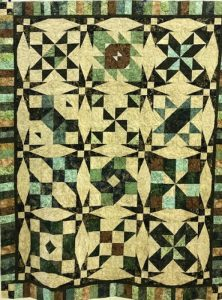"The ""Maidstone Quilting Squares"" quilt group are making my Cinnamon-teen Chocolate Figs & Roses quilt! Quilt #2"