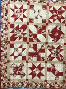 "The ""Maidstone Quilting Squares"" quilt group are making my Cinnamon-teen Chocolate Figs & Roses quilt! Quilt #4"