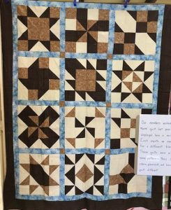 "The ""Maidstone Quilting Squares"" quilt group are making my Cinnamon-teen Chocolate Figs & Roses quilt! Quilt #5"