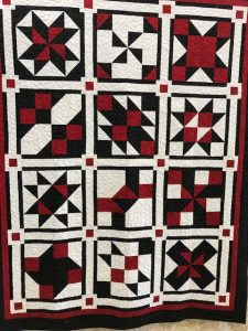 "The ""Maidstone Quilting Squares"" quilt group are making my Cinnamon-teen Chocolate Figs & Roses quilt! Quilt #7"