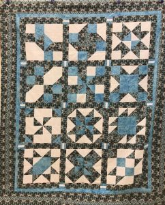 "The ""Maidstone Quilting Squares"" quilt group are making my Cinnamon-teen Chocolate Figs & Roses quilt! Quilt #9"