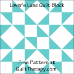 """Lover's Lane Quilt Block Free Pattern for a 12"""" quilt block at QuiltTherapy.com!"""