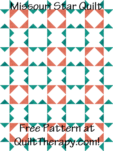 "Missouri Star Quilt Free Pattern for a 36"" x 48"" quilt at QuiltTherapy.com!"