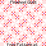 """Nine-Patch Pinwheel Quilt Block Diagram Free Pattern for 12"""" finished quilt block at QuiltTherapy.com!"""