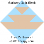 """Sailboat Quilt Block Free Pattern for a 12"""" quilt block at QuiltTherapy.com!"""