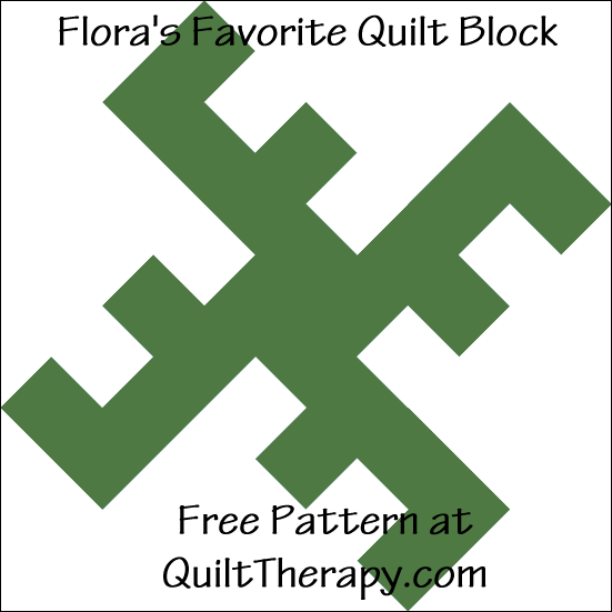"Flora's Favorite Quilt Block Free Pattern for a 12"" quilt block at QuiltTherapy.com!"