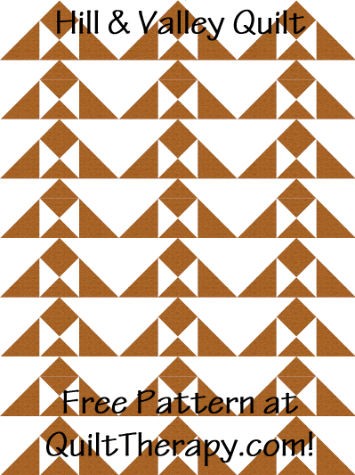 """Hill & Valley Quilt Free Pattern for a 36"""" x 48"""" quilt at QuiltTherapy.com!"""