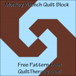 "Monkey Wrench Quilt Block Free Pattern for a 12"" quilt block at QuiltTherapy.com!"