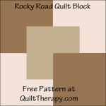 "Rocky Road Quilt Block Free Pattern for a 12"" quilt block at QuiltTherapy.com!"