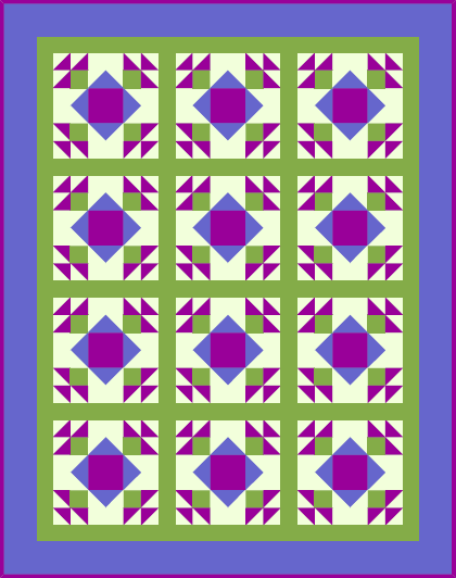 """Saying Goodbye to Summer"" the October 2019 Quilt Dash Free Pattern. Given to all Quilt Dash member's who complete the October 2019 Quilt Dash!"