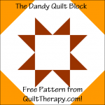 """The Dandy Quilt Block Free Pattern for a 12"""" quilt block at QuiltTherapy.com!"""