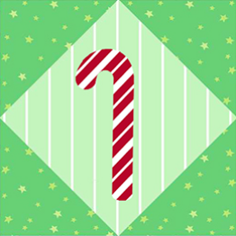 """Candy Cane"" Free Quilt Block designed by Phyllis Dobbs from Quilt Dash!"