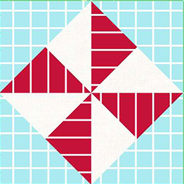 """Pinwheel"" Free Quilt Block designed by Phyllis Dobbs from Quilt Dash!"