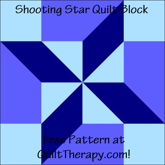 "Shooting Star Quilt Block Free Pattern for a 12"" quilt block at QuiltTherapy.com!"