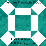 "Wedding Ring Quilt Block Free Pattern for a 12"" quilt block at QuiltTherapy.com!"