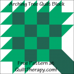 "Arching Tree Quilt Block Free Pattern for a 12"" quilt block at QuiltTherapy.com!"