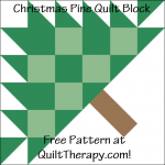 "Christmas Pine Quilt Block Free Pattern for a 12"" quilt block at QuiltTherapy.com!"