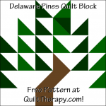 "Delaware Pines Quilt Block Free Pattern for a 12"" quilt block at QuiltTherapy.com!"