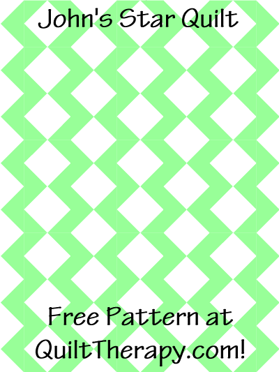 """John's Star Quilt Free Pattern for a 36"""" x 48"""" quilt at QuiltTherapy.com!"""