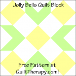 "Jolly Bells Quilt Block Free Pattern for a 12"" quilt block at QuiltTherapy.com!"
