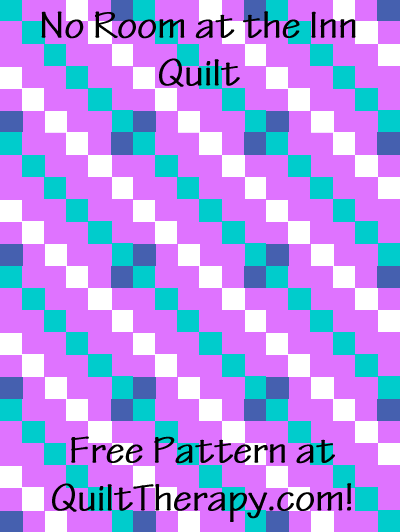 """No Room at the Inn Quilt Free Pattern for a 36"""" x 48"""" quilt at QuiltTherapy.com!"""