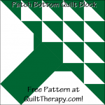 "Patch Blossom Quilt Block Free Pattern for a 12"" quilt block at QuiltTherapy.com!"