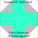 "Snowball #1 Quilt Block Free Pattern for a 12"" quilt block at QuiltTherapy.com!"