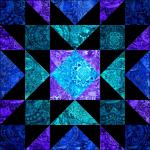 """Star Gardner"" a Free 12"" Quilt Block Pattern. Block #5 of BOMquilts.com's 2020 Block of the Month Quilt, ""Midnight Stargazer!"""