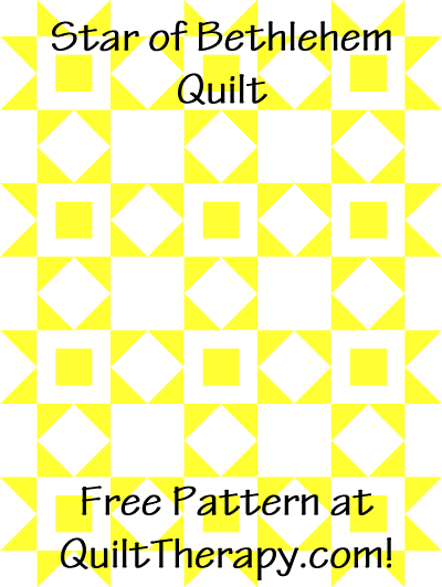 "Star of Bethlehem Quilt Free Pattern for a 36"" x 48"" quilt at QuiltTherapy.com!"