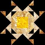 """Stockyard Star"" a Free 12"" Quilt Block Pattern. Block #2 of BOMquilts.com's 2020 Block of the Month Quilt, ""Midnight Stargazer!"""