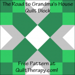 "The Road to Grandma's Quilt Block Free Pattern for a 12"" quilt block at QuiltTherapy.com!"
