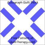 """Autograph Quilt Block Free Pattern for a 12"""" quilt block at QuiltTherapy.com!"""