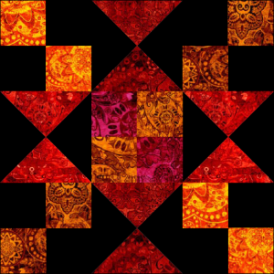 """Chained Star"" a Free 12"" Quilt Block Pattern. Block #1 of BOMquilts.com's 2020 Block of the Month Quilt, ""Midnight Stargazer!"""