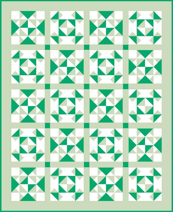 """Geese Galore"" Free Paper-Pieced Quilt Pattern to Quilt Dash members who Complete January's Quilt Dash!"