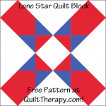 """Lone Star Quilt Block Free Pattern for a 12"""" quilt block at QuiltTherapy.com!"""