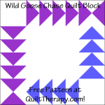 "Wild Goose Chase Quilt Block Free Pattern for a 12"" quilt block at QuiltTherapy.com!"