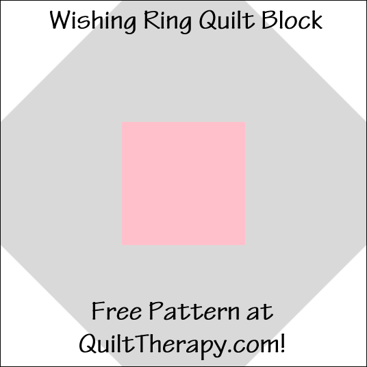 """Wishing Ring Quilt Block Free Pattern for a 12"""" quilt block at QuiltTherapy.com!"""