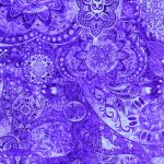 """Midnight Stargazer"" 2020 Block of the Month designed by TK Harrison for BOMquilts.com - Fabric #18 in this BOM Quilt - Purple Haze"