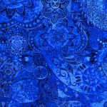 """Midnight Stargazer"" 2020 Block of the Month designed by TK Harrison for BOMquilts.com - Fabric #23 in this BOM Quilt - After Midnight"