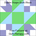 """Dublin Steps Quilt Block Free Pattern for a 12"""" quilt block at QuiltTherapy.com!"""
